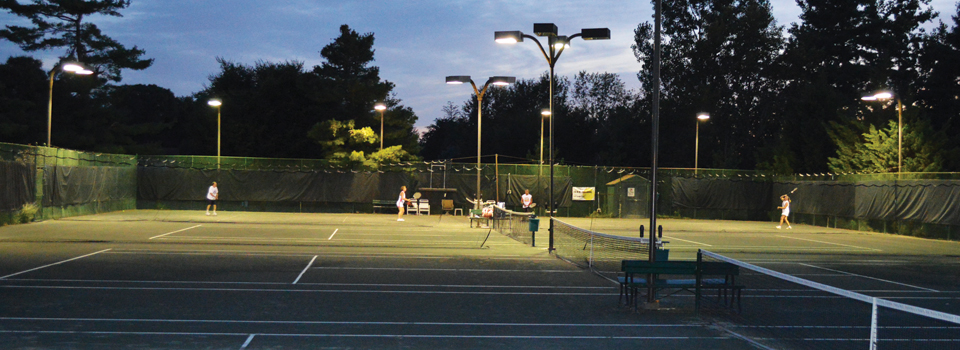 ODCC Tennis Courts with lights for night play